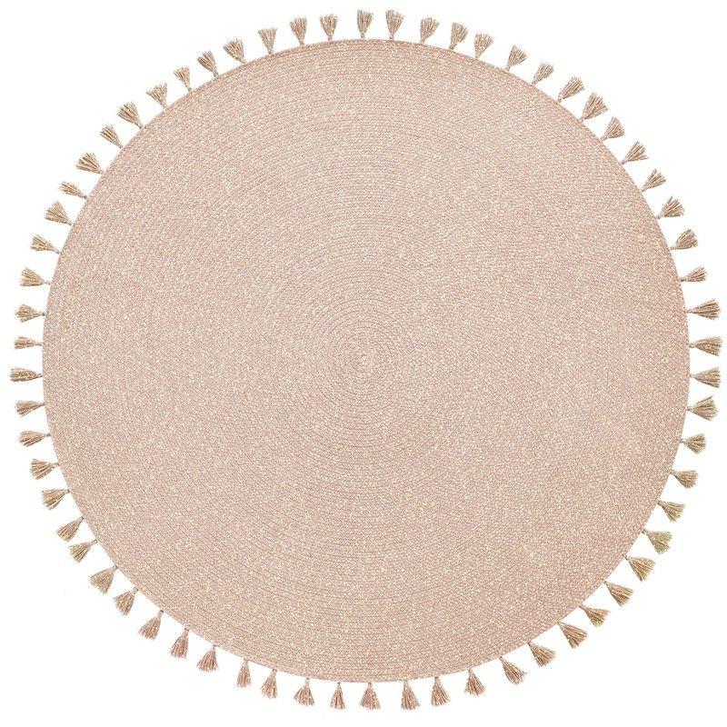 Vertraumter Kinderteppich Heloise 95 Baumwolle 140 Cm Durchmesser Von Nattiot Kinderteppiche Teppich Handgefertigte Teppiche