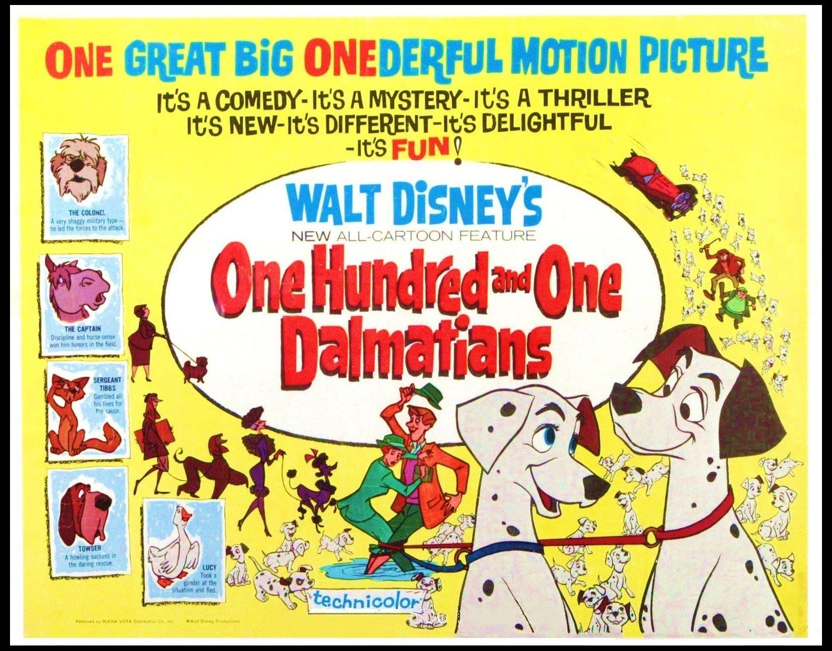 101 Dalmatians 1961 Pongo And Perdita Have A Litter Of 15