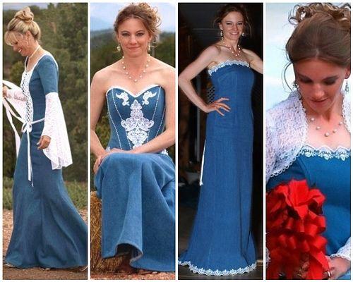 Western Wedding Dresses Say I Do In Denim