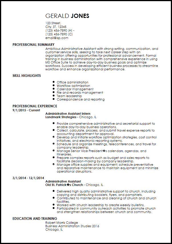 C Suite Resume Templates Entry Level Resume Office