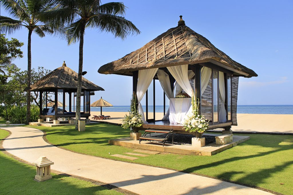 Conrad Bali - Beach Bale Wedding Setup   by Pandu Adnyana Photography Tour