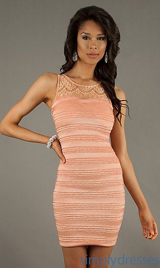 999a099eb0a6 Short Sleeveless Fitted Dress at SimplyDresses.com - varios colores - 89