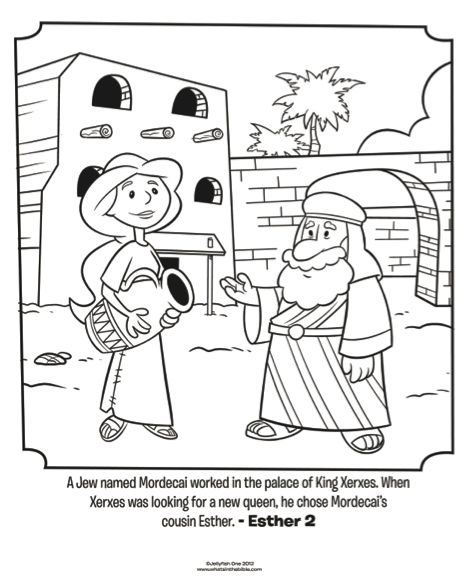 esther and mordecai bible coloring pages whats in the bible