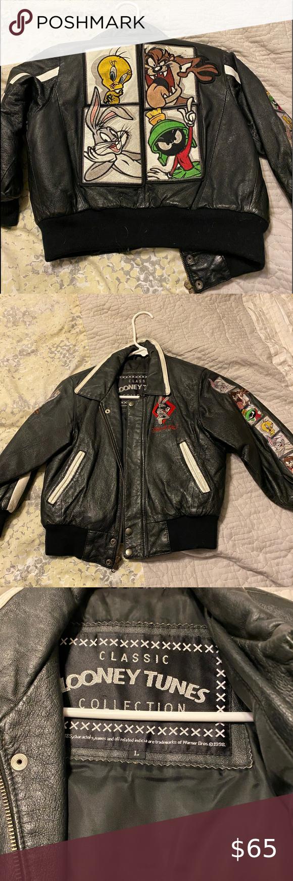 Looney Tunes Boys Size Large Leather Jacket Leather Jacket Jackets Leather [ 1740 x 580 Pixel ]