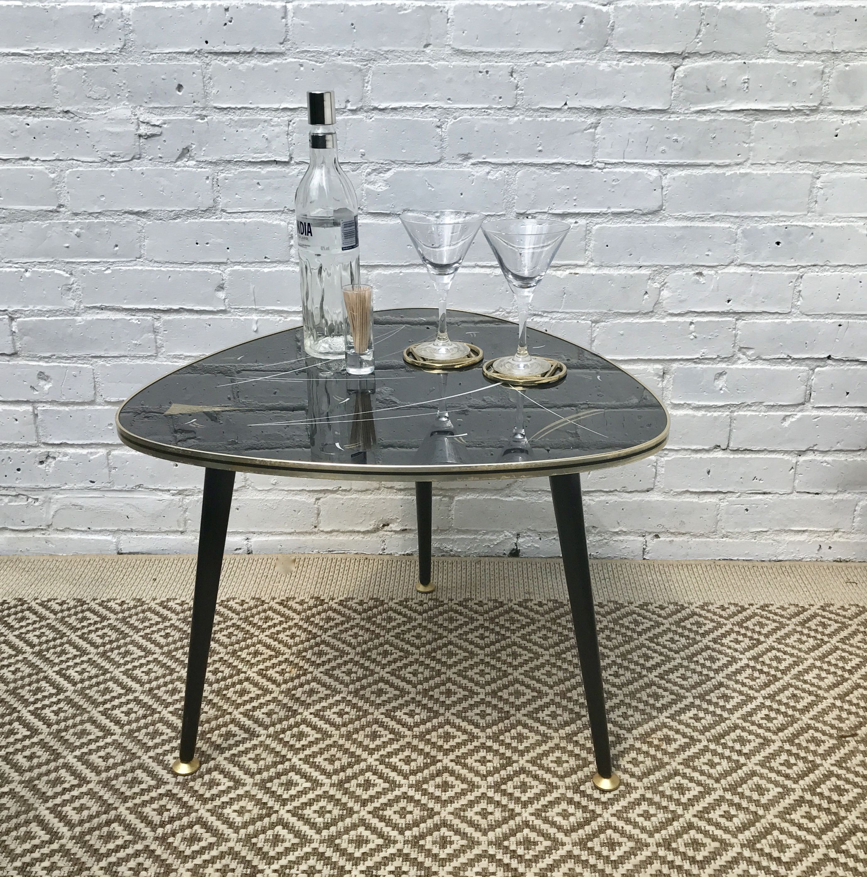 Retro 50s Triangle Shaped Coffee Table #198