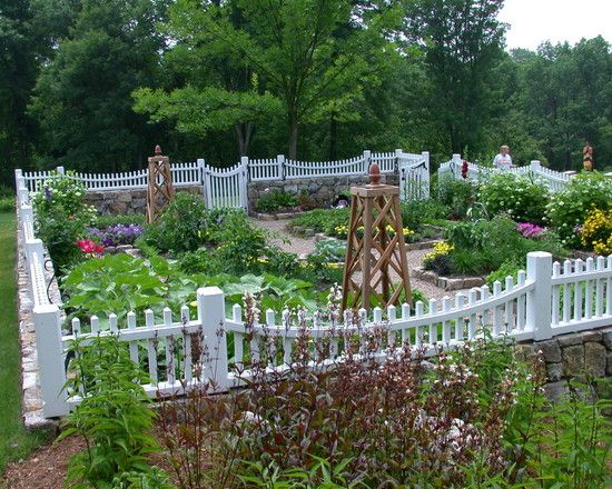 example of picket fence around garden with shed garden ideas pinterest picket fences gardens and sheds - Deer Proof Vegetable Garden Ideas