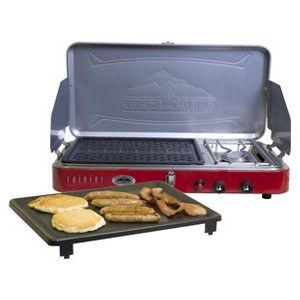 Camp Chef Rainier Mountain Series Burner Stove, Grill and Griddle Combo