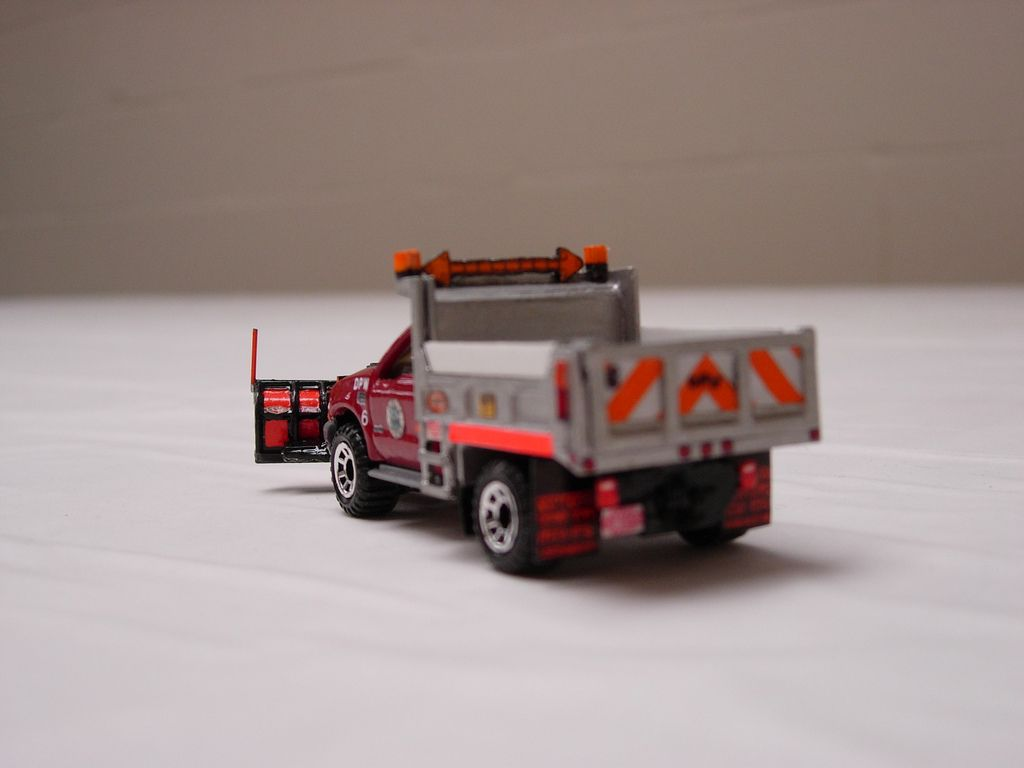 a custom built matchbox f 550 1 ton dump truck with crysteel dump body and bonnell utility snow plow with hitch  [ 1024 x 768 Pixel ]
