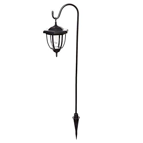 Yochea Led Solar Coach Lights Shepherds Hook Hanging Lamps With 2