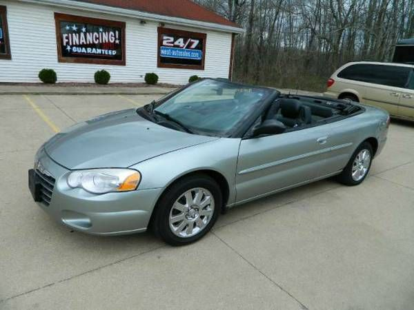 2004 chrysler sebring convertible limited leather loaded 117k 2 doors 117 318 miles green 6 cylinders automati sebring convertible cars usa chrysler sebring 2004 chrysler sebring convertible