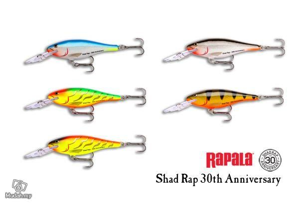 discontinued Rapala Fishing Lures color | Rapala Shad Rap 30th