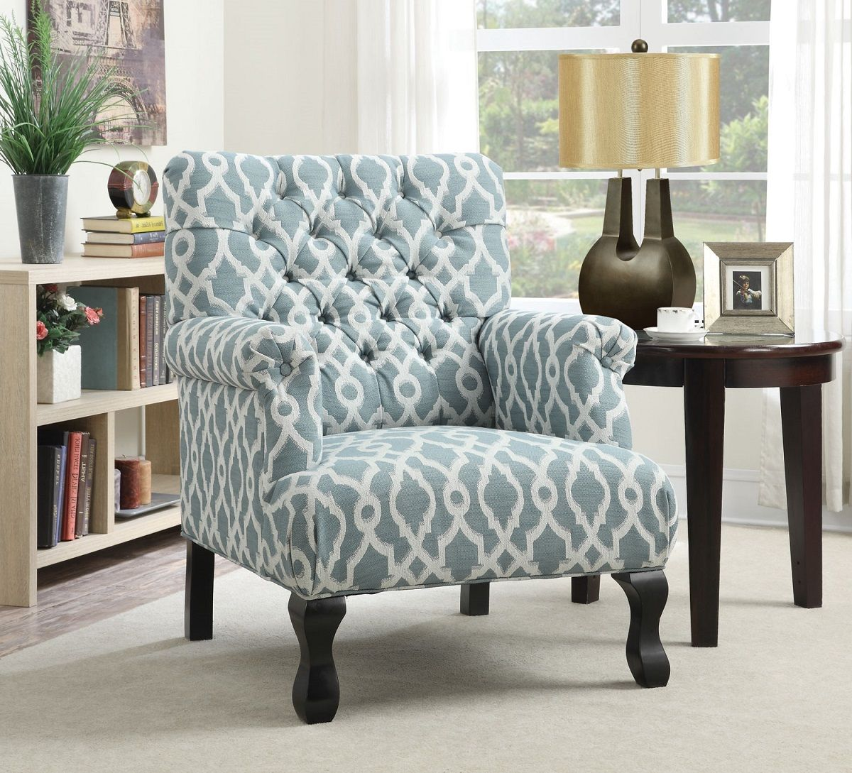 Best Blue Accent Chair With White Print Is A Classic Design 400 x 300