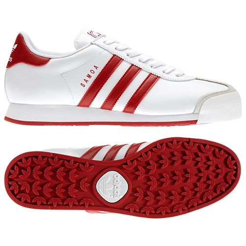 red and white samoa adidas