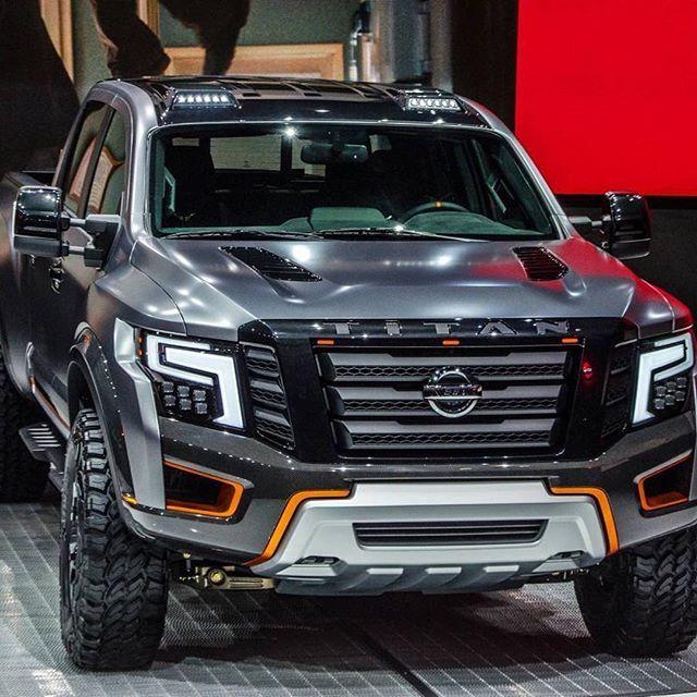 A Monstruosa Picape Nissan Titan Warrior Concept Foi Apresentada No Nyias Newyork Auto Suv Trucks Nissan Titan Xd Nissan