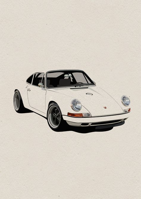 Illustrations Amazing Cars Porsche Art Cars Automotive Art