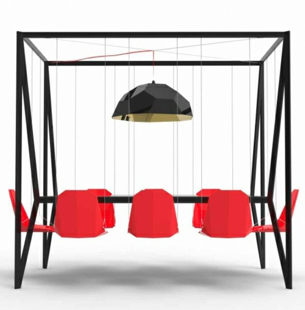 orange-schwarzer innovativer Esstisch | ♡ Home | Pinterest ...