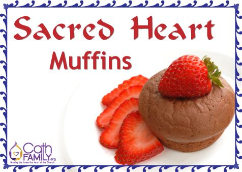 Try this simple muffin recipe to celebrate the Feast of the Sacred Heart with taste. The bitterness of the coffee is counterbalanced by the sweetness of the strawberries.