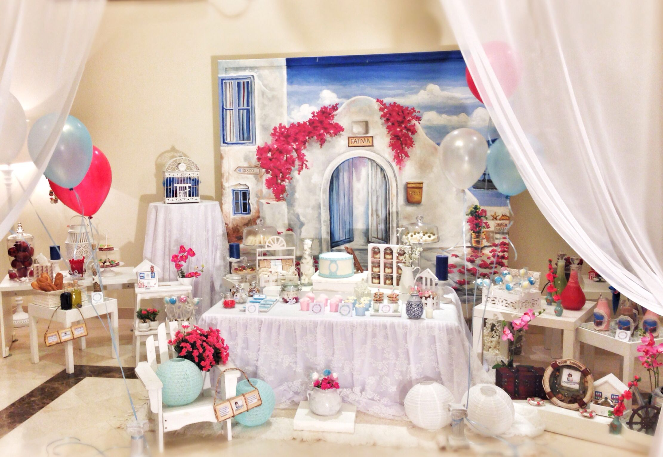 Mamma mia santorini theme party ideas for party for Mia decoracion