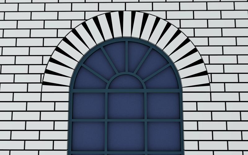 Rough Arch Brickwork Masonry Design