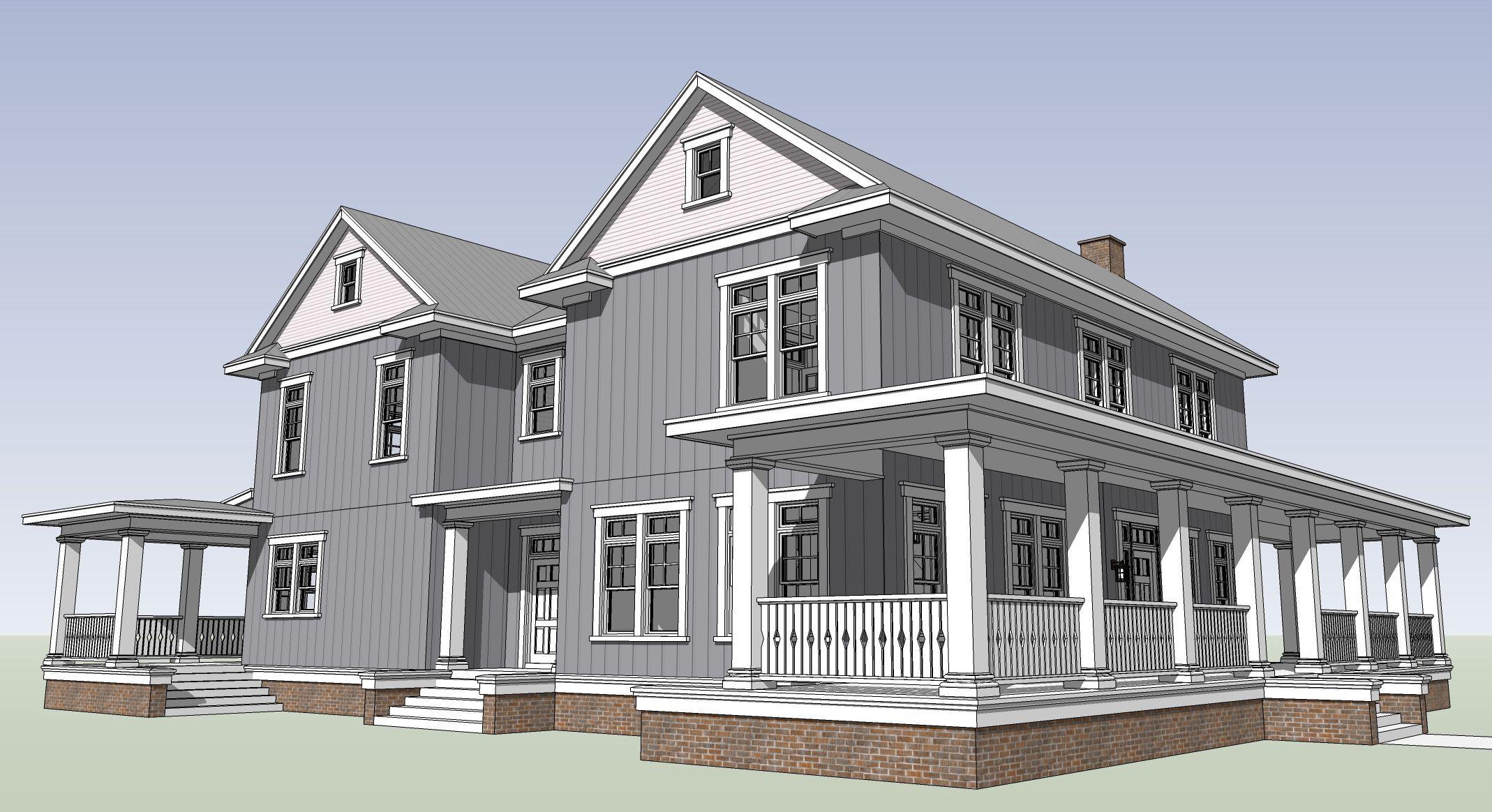 See Through 5 Bed Farmhouse Plan In 2020 Farmhouse Plans Country Style House Plans Farmhouse Style Bedrooms