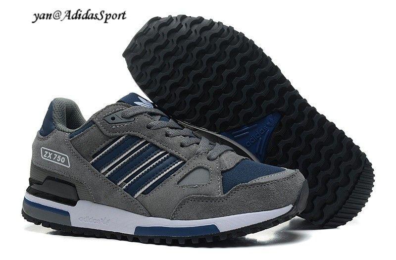 san francisco ba855 50684 ... discount code for adidas originals zx 750 hombres zapatillas de running  gris oscuro azul marino blanco
