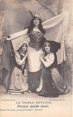 """WWI, """"La Triple Entente"""", French postcard"""
