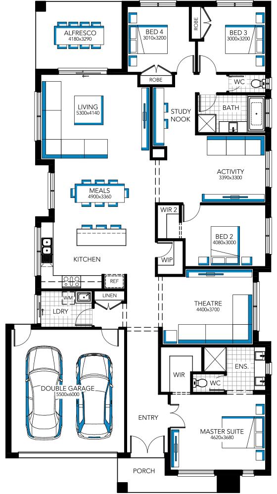 Home Designs & House Plans, Melbourne | Carlisle Homes. Piermont