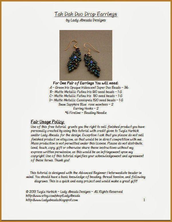 Bead Mavens: Tutorial Tah Dah Duo Drop Earrings
