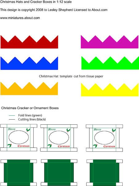 Make Miniature Putz Or Glitter Houses With These Free Printables Christmas Crackers Dollhouse Christmas Christmas Dolls