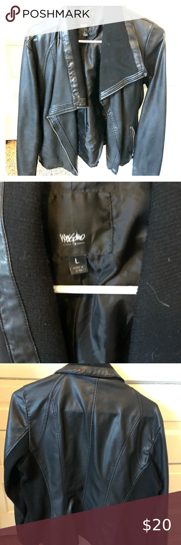 Mossimo Faux Leather Jacket Faux Leather Jacket With Black Side Stripe Like New Condition Target Jackets Coats Leather Jacket Faux Leather Jackets Jackets [ png ]