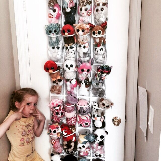 Fun way to store your beanie boos.