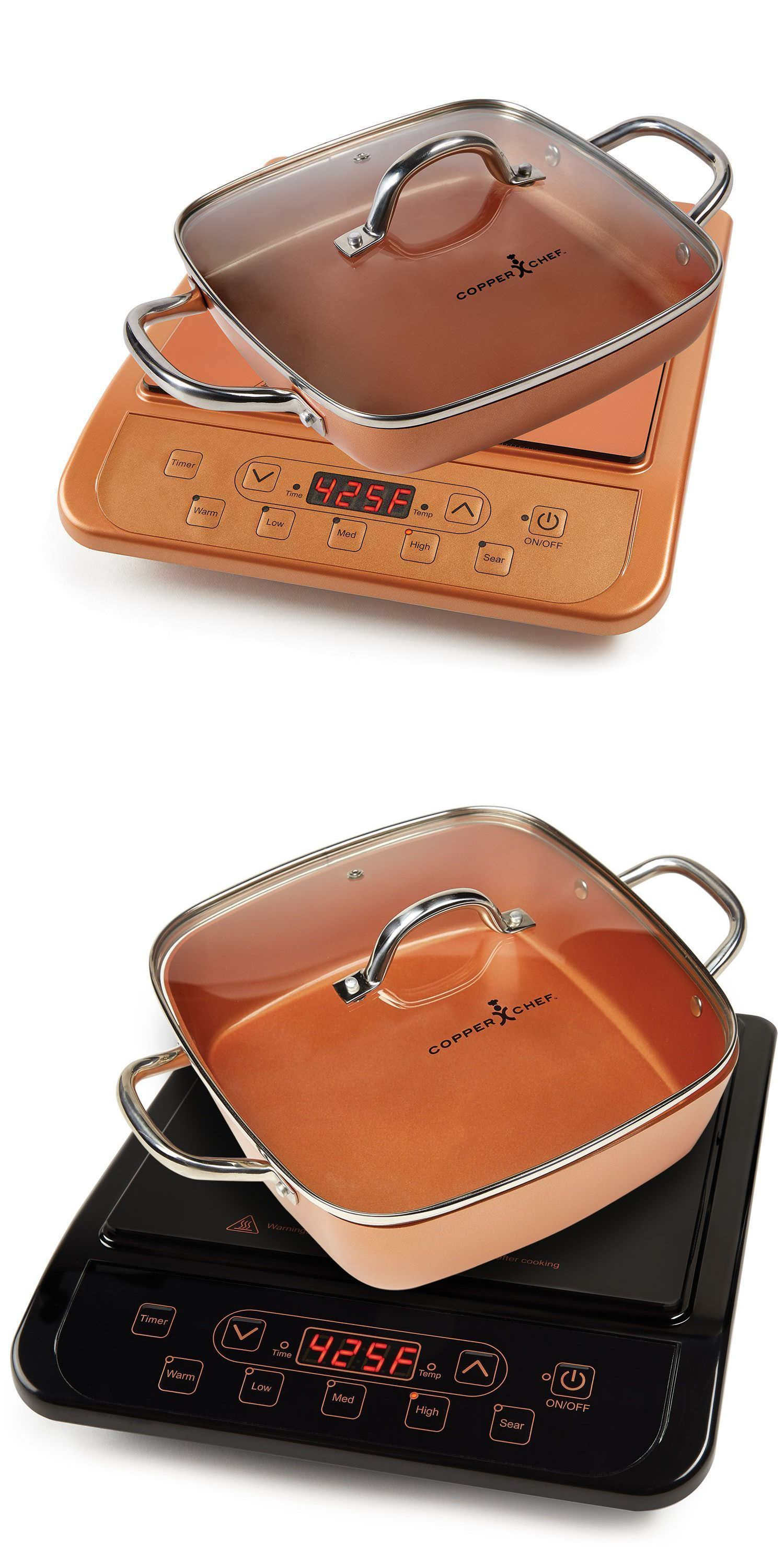Copper Chef Induction Cooktop With 11 Casserole Pan Assorted Colors Induction Cookware Copper Chef Induction Cooktop