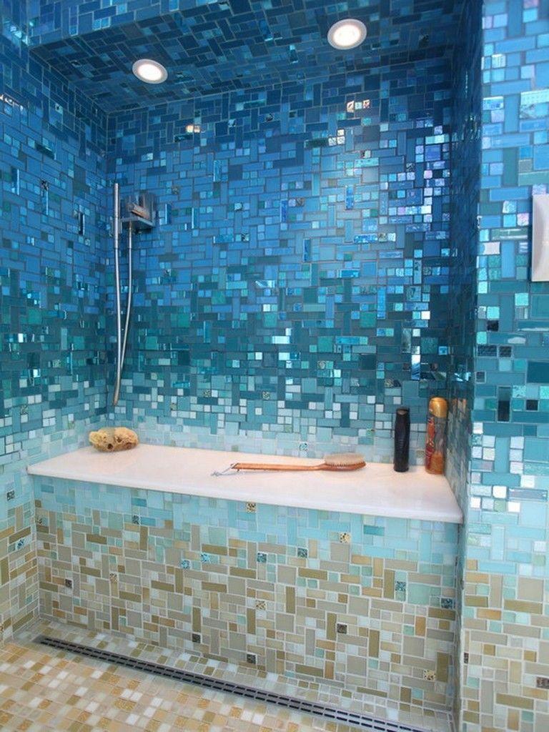 35 Stunning Mermaid Shower Tiles Designs Ideas For Bathroom Bathroom Bathroomdecor Bathroomdecor Beach Theme Bathroom Tropical Bathroom Shower Tile Designs