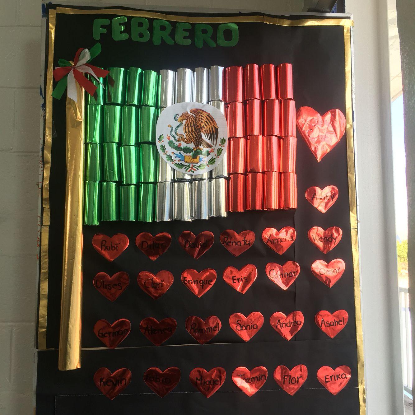 Febrero puertas decoradas puertas decoradas for Puertas decoradas para el 16 de septiembre