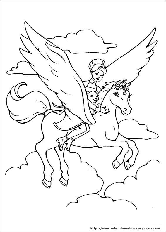 Barbie Magic Pegasus Coloring Pages - Educational Fun Kids Coloring - copy coloring pages of barbie a fashion fairytale