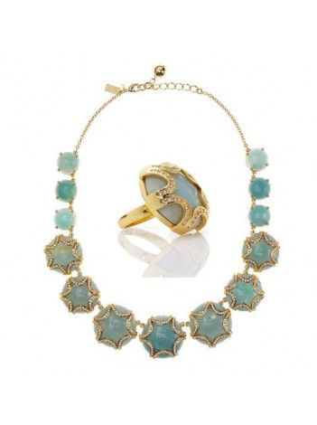 Kate Spade New York Quarry Jewels Bib Necklace and Ring Set - $125 for a set of two :)