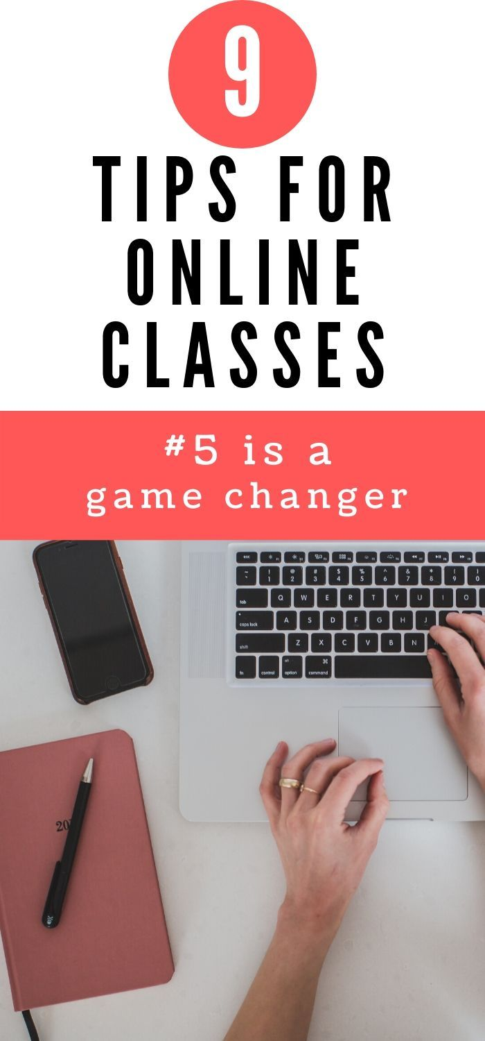 Taking classes online is tough but with a few tips and tricks you can be successful. Keep reading to find out the 9 tips for online classes I use to ace my online classes. #college #onlineclass