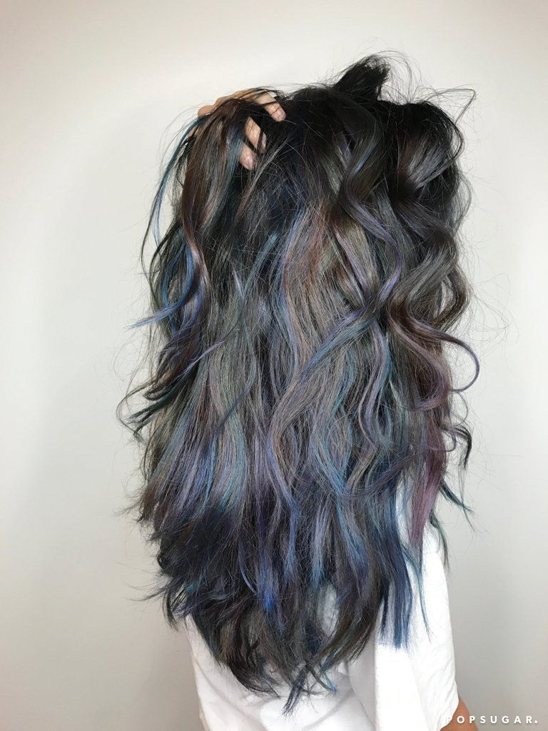 Oceanic Brunette Is The Moody New Rainbow Hair Trend You Ve Been Waiting For Hair Styles Long Hair Styles Brunette Hair Color
