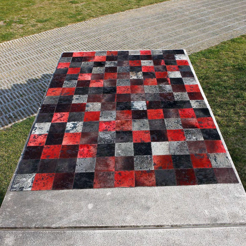 Carving alfombra de piel moderna oscar mix alfombra de for Alfombras redondas modernas