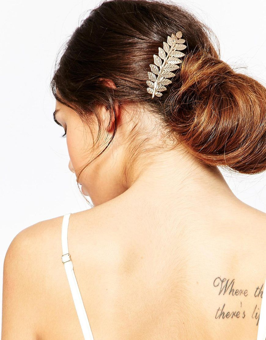 b47e8117250a3 Image 1 of ASOS Metal Leaf Hair Clip