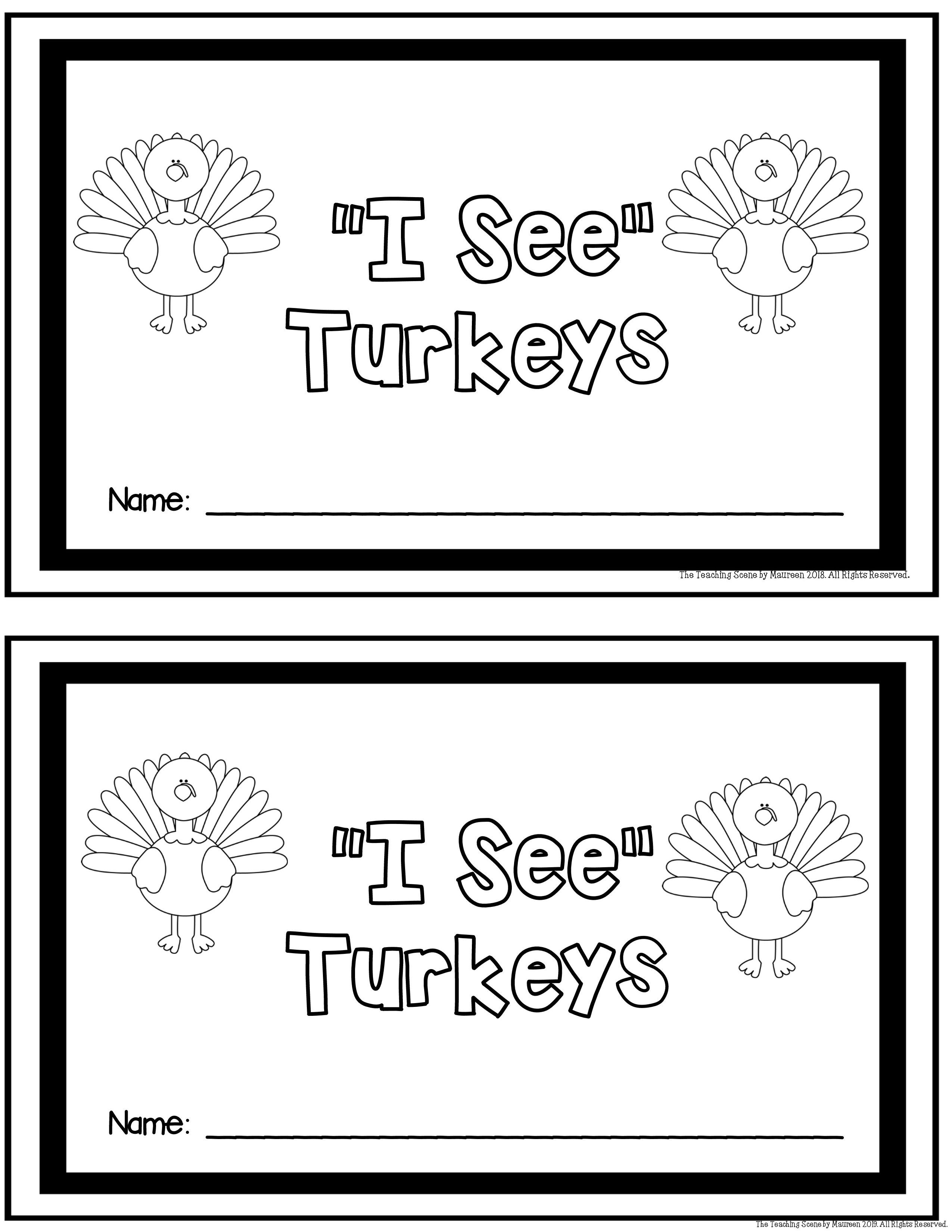 November Literacy Amp Math Centers Turkeys Theme