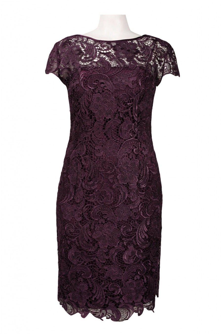 eggplant mother of the bride short dresses | patra illusion