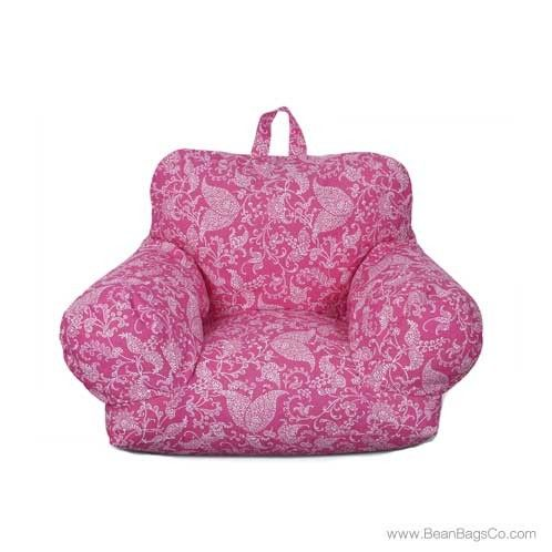 Wondrous Junior Fx Jr Bean Bag Arm Chair Pink Paisley Armchair Unemploymentrelief Wooden Chair Designs For Living Room Unemploymentrelieforg