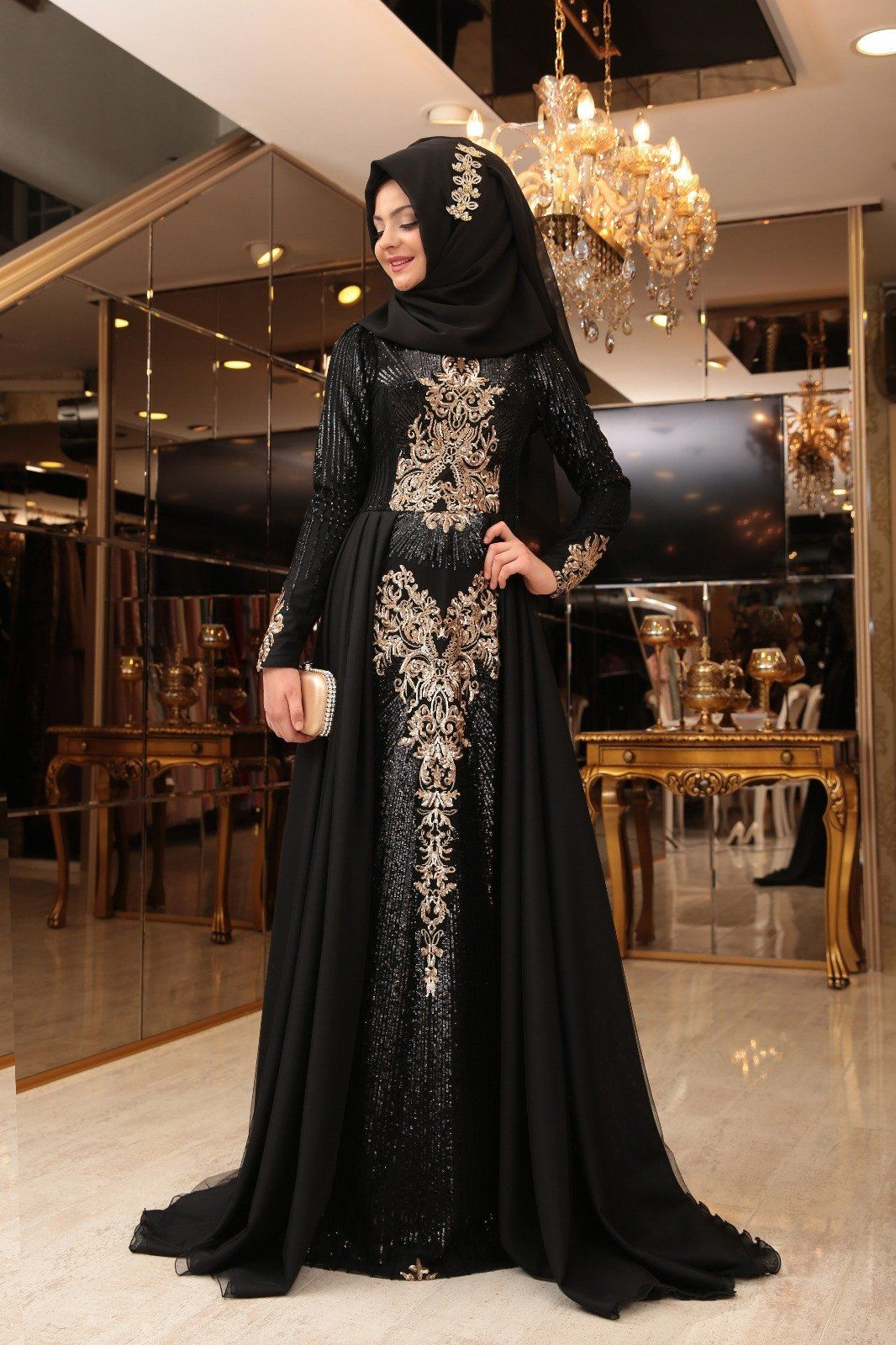Starry nights royal gown black final stock with limited stock in