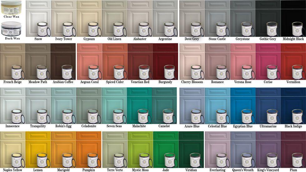 Renaissance Innovations Color Card Paint Color Swatches Chalk Paint Colors Buy Chalk Paint