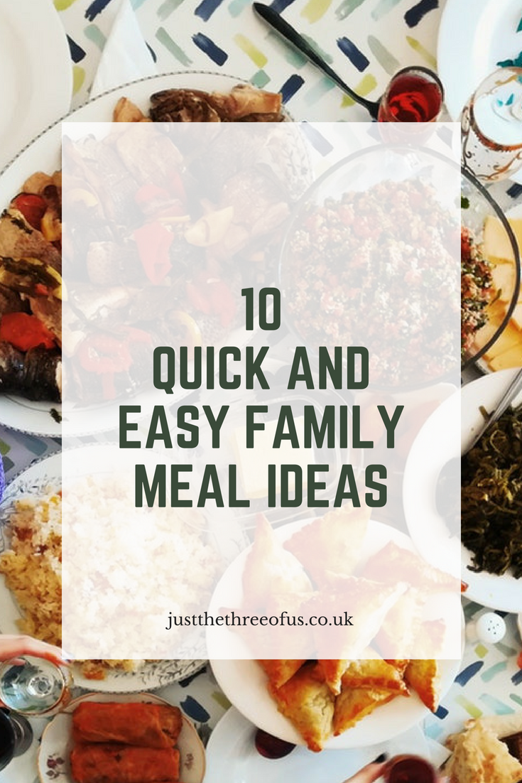 10 Quick And Easy Family Meal Ideas - Just The Three Of Us. images