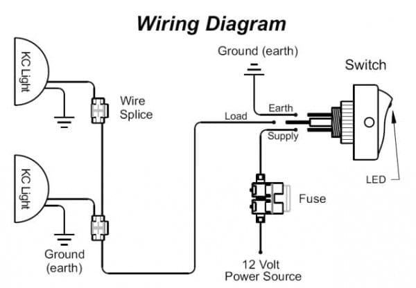 Led Fog Light Wiring Diagram | Led fog lights, Toggle ...