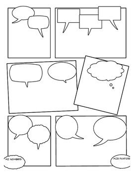 Blank Comic Strip  TeacherspayteachersCom  Stuff Jo Likes
