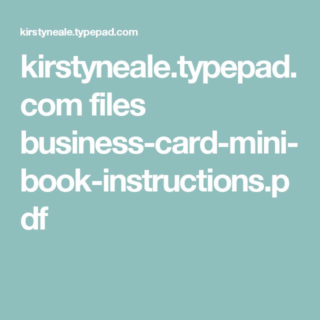 Kirstynealetypepad files business card mini book instructions kirstynealetypepad files business card mini book instructions reheart Choice Image