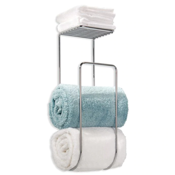Idesign Classico Towel Rack In Chrome With Images Wall Mounted Towel Holder Towel Rack Luxury Towels